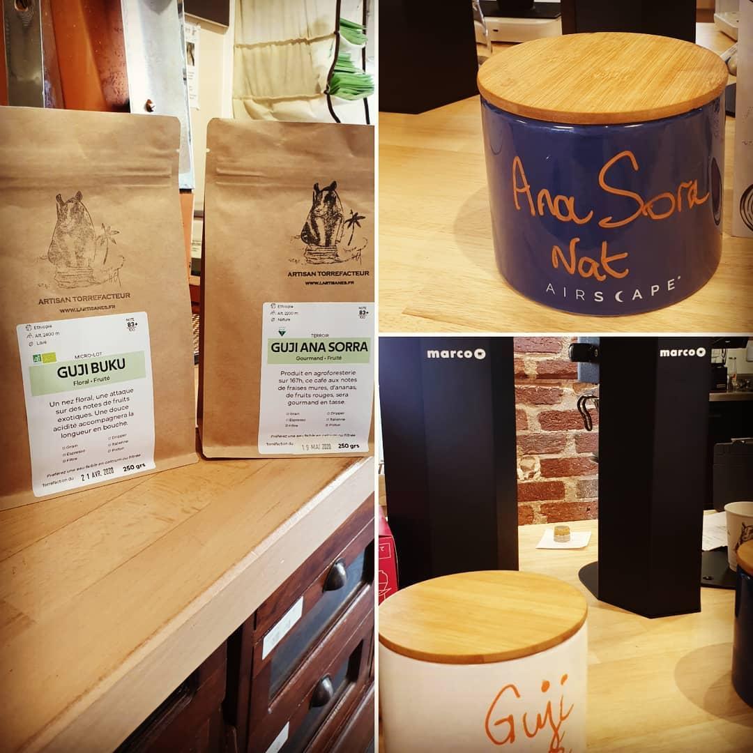 Nos cafes a la degustation a l'artisanes