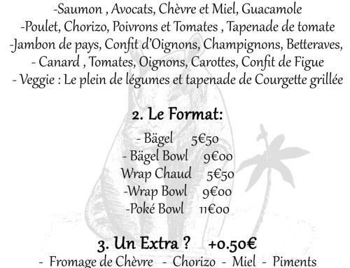 La carte de Snacking du coffee-shop COVID-19