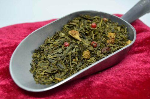 Cueillette gourmande - Thé vert parfumés Bio