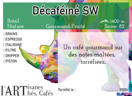Décaféiné à l'eau Swiss Water Specialty Coffee du Brésil by L'Artisanes Thés Cafés à Saint-Quentin