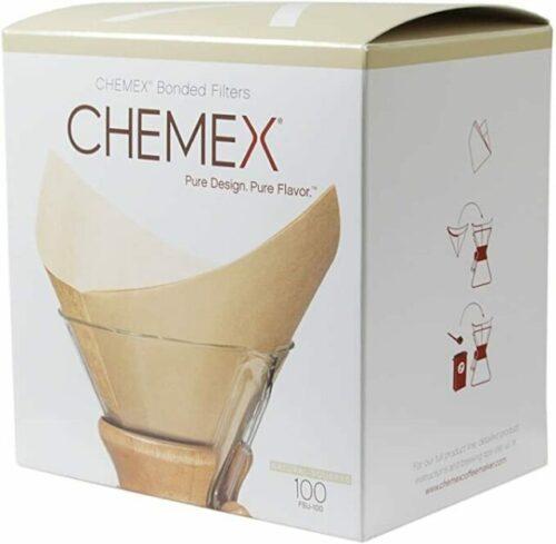 Boîte de 100 Filtres Chemex non blanchis pour Chemex 6 tasses