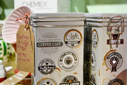 Boîte à café hermétique en inox 250gr