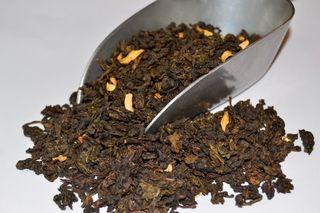 Thé Oolong bleu-vert de Chine parfumé à la fleur d'oranger. Par L'Artisanes Thés Cafés maison de thé à Saint-Quentin